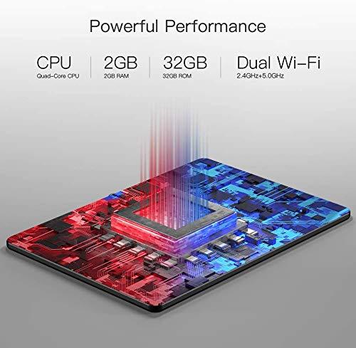 Tablette Tactile 10 Pouces Dragon Touch Android 9.0 WiFi 5G,32 Go de ROM,8.0 MP Caméra,Quad Core,5000mAh,HDMI,Bluetooth,GPS,FM - Notepad K10