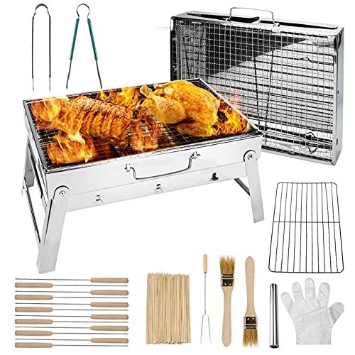 ACETOP Folding Charcoal Barbecue Grill Intsun Portable Hibachi Grill...
