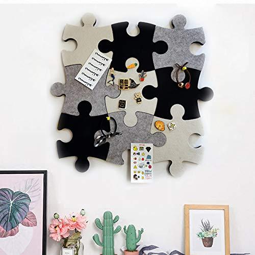 Filz-Pinnwand aus Kork, Set von Wand-Puzzle-Form, Pinnwand mit selbstklebendem Klebeband, um Erinnerungen Fotos Memos Anzeigetafel Pads Bilder Zeichnen Ziele Notizen bunte Schaumstoff-Wanddekoration