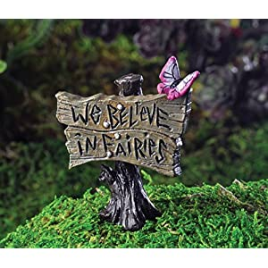 georgetown home garden miniature butterfly sign we believe in fairies garden decor