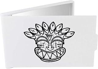 'Smiling Tiki Mask' Compact / Travel / Pocket Makeup Mirror (CM00024379)