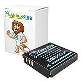 Akku-King Akku kompatibel mit Panasonic CGA-S005, DMW-BCC12 - Li-Ion 1250mAh - für Lumix DMC-FX07, FS1, FS2, FX01, FX07, FX10