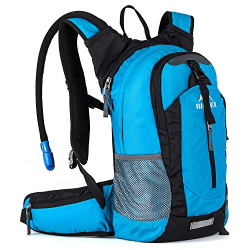 Insulated Hydration Backpack Pack with 2.5L BPA FREE Bladder - Keeps Liquid Cool up to 4 Hours, Lightweight Daypack Water Backpack For Hiking Running Cycling Camping, 18L