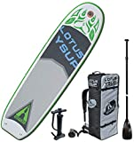 ADVANCED ELEMENTS Lotus Yoga Inflatable Stand Up Paddle Board & Pump, White, 10ft (AE1062-G)