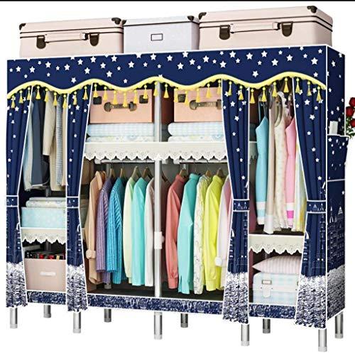 AYUANCHUN Eenvoudige garderobe - Stalen buis verdikte versterkte doek kledingkast, Eenvoudige moderne geassembleerde kast/slaapkamer kast, Kleding opslag organisator, Locker
