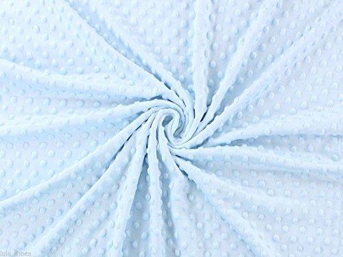 Tissu Supersoft Dimple Dot Cuddle en polaire douce - 150 cm Wide- Bleu ciel (vendu au mètre)