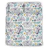 Zhouwonder Juego de ropa de cama de 4 piezas, funda nórdica y 2 fundas de almohada, color blanco