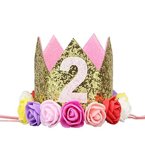 Sunlera Partido Flor niña cumpleaños Muchacho Cap