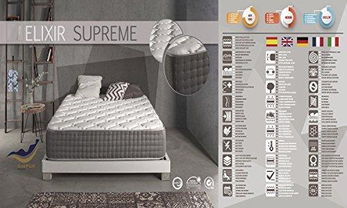 Simpur Relax | Matelas Épaisseur 30 cm ELIXIR SUPREME 160X 200 cm | Avec Multi Couches extra confort matelas | Bio Memorie de Forme PURE-CONFORT | Tissu avec Systéme de Qualité de qualité supérieure