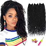 Passion Twist Hair 12 Inch Pre Twisted Passion Twist Crochet Hair 6 Packs Pre looped Crochet Twist Hair Prelooped Crochet Braids Short Black Synthetic Braiding Hair For Black Women By Befunny (12',1B#)