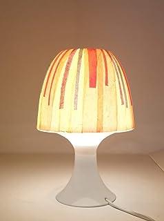 Lampada comodino decorata a mano