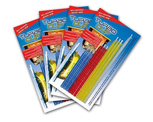 4 x turbo clipsluiting voor zakjes - set van 10 sluitclips sluitklemmen zaksluiting zaksluiting zaksluiting sluitklem zakklem zakklem zakklem sluitclip