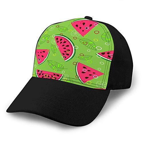 5 Baseball Caps Trucker Caps Bones Hip Hop Hüte für Männer Frauen Obstmischung Muster B.