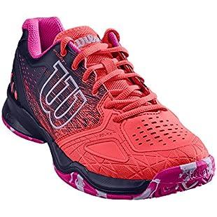 Customer reviews Wilson Women KAOS Comp W Tennis Shoes,Fiery Coral/Evening Blue/Pink Glow,Size 6.5 (EU 40 1/3):Viralinfo