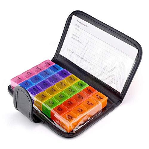 Pill Organizer, Viaggi Pill Box, Pillola al Giorno di Sicurezza, Facile Trasporta, Dell'organizzatore della Medicina Vitamina Holder
