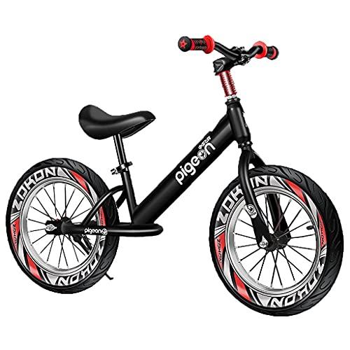 Bicicleta sin Pedales Bicicleta sin Pedales Bicicleta de Entrenamiento para niños, de 3 a 8 años Niños niñas Deportes al Aire Libre, Negro/Rojo/Azul Bicicleta de Equilibrio Coach Aluminio Ligero