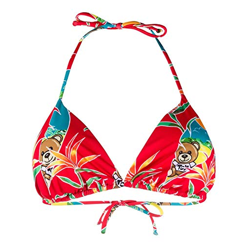 Moschino Damen Kostüm Bikini-Top 2A5719-2125 Rot - IV