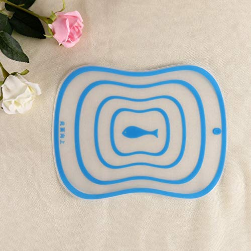 1pc Kitchen Cutting Board Non-slip Frosted Chopping Board 30 * 20 CM Vegetable Fruit Meat Chopping Board Household Kitchen Tools - s2,Blue