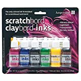 Ampersand : Scratchbord Ink Set : 6 Colours by Ampersand