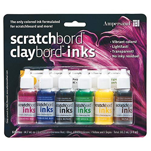 Ampersand : Scratchbord Ink Set : 6 Colours by Ampersand