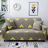 WXQY Funda de sofá elástica geométrica, Funda de protección para Mascotas para Sala de Estar, Funda de sofá Todo Incluido de Esquina en Forma de L A1 3 plazas