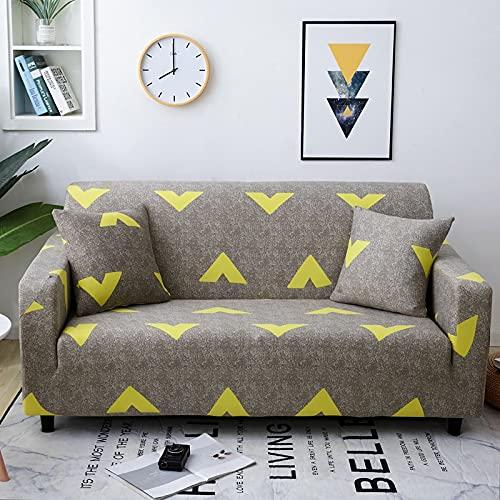 WXQY Funda de sofá de la Sala de Estar Funda de sofá elástica Funda de sillón en Forma de L Funda de sofá Antideslizante con Todo Incluido Funda de sofá de Esquina A7 1 Plaza