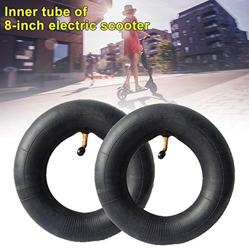 Guer Tubos Interiores de Scooter eléctrico, Tubo de neumático de Repuesto para Scooter de 200x50 mm, Tubo Interior de Goma Absorbente de Golpes de 2 Piezas de 8 Pulgadas para Scooter eléctrico