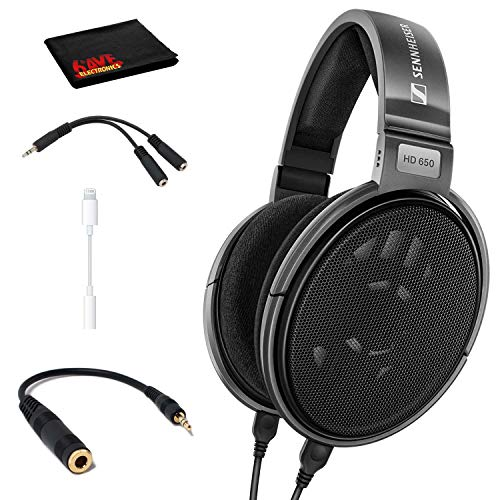 Sennheiser HD 650 Open Back Professional Headphone with Cable Adapter Kit