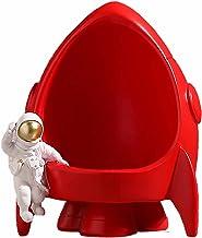 Astronaut raketformade förvaringsmöjligheter, hartsmaterial, kreativ heminredning, lämplig för ingång/vardagsrum/gåva red