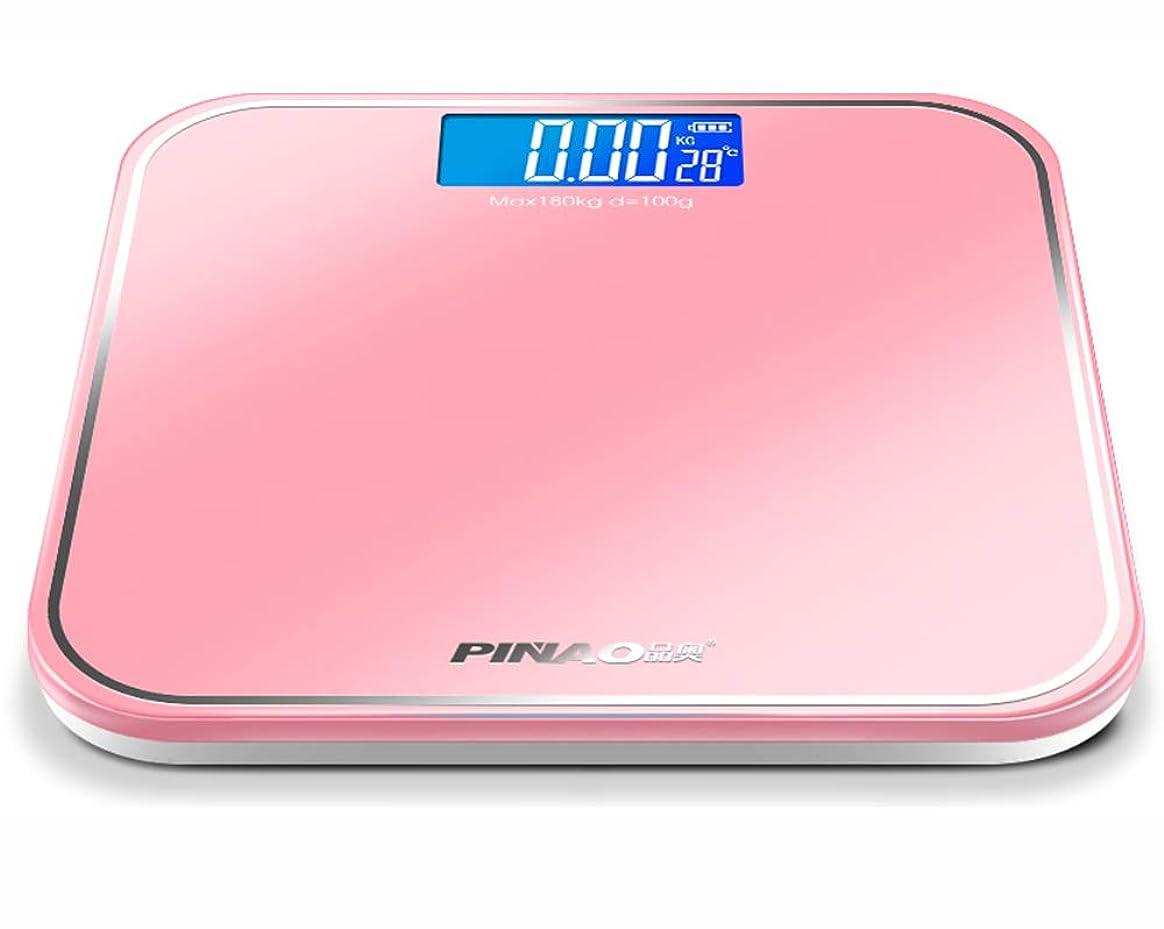 民族主義肺炎インサートUSB高精度デジタル体重計、LEDバックライトディスプレイ、スリムデザイン、室温の測定