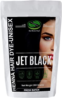 Jet Black Henna Hair Color/Dye 200 Grams (2 Step Process) - The Henna Guys