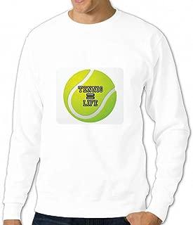 テニスは生命に等しい Men Crew Neck Sweater メンズトップス トレーナー アクティブウェア