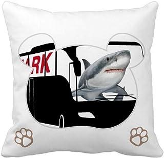 OFFbb-USA Shark Ocean Bus Bear - Funda cuadrada para almohada