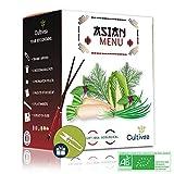 Cultivea Saveurs du Monde - Kit Prêt à Pousser Menu Asiatique -...