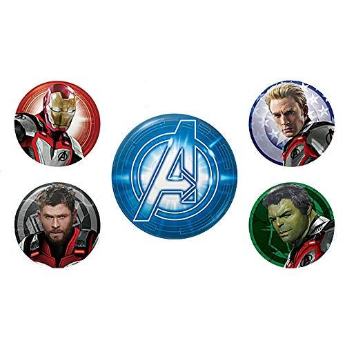 Echte Marvel Avengers Endgame Quantum Realm Anzüge 5 Stück Taste Abzeichen Stift Einestellen