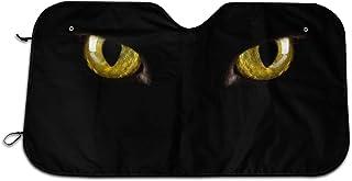 Cartoon Halloween Black Cat Eyes Scary Themed Wind Sun Shade Car Windows Interior Cover Visor Kit Ornament Decor Outdoor V...