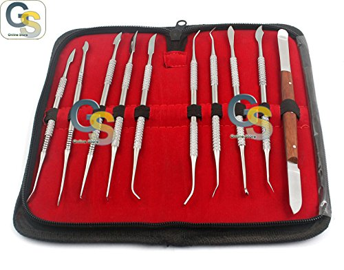 G.S Dental LAB Equipment Dental KIT Wax Carving Tool Set Best Quality