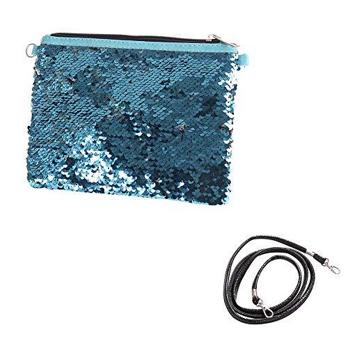 MoGist Trousse de Toilette Sac de Rangement Imperméable Sac de Voyage Maquillage Sac à Main Sac de Boulette Petit Sac Sac Diagonal Petit Sac Carré Coton Argent Bleu 1 15cm*20.5cm*0.5cm