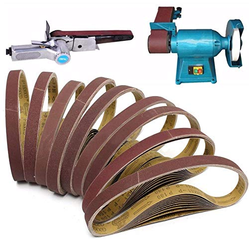 10 Stück Neue 760 mm * 25 mm Schleifbänder für Rexon Clarke 80er Körnung ~ 600er Körnung, 120