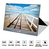 YEHUA Moniteur de Jeu 15.6'' Mini Moniteur Portable Écran FHD IPS Écran USB C...