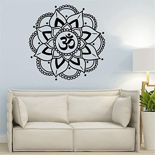 Pegatinas de pared mandala, pegatinas de yoga Ganesh Buddha, arte de pared bohemio, arte de pared de mandala, pegatina de pared de estudio de yoga, otro color 57x57cm