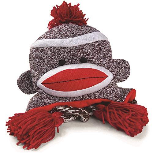 Pennington Bear Company The Original Sock Monkey Hat, Knit, Plush Material, Adult Size (Gray)