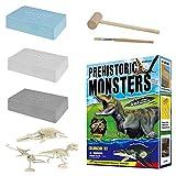 3 Unids/Set De Juguetes Grandes Ensamblados Excavación Arqueológica Tyrannosaurus Pterosaur Ictiosaurio Juguetes Educativos