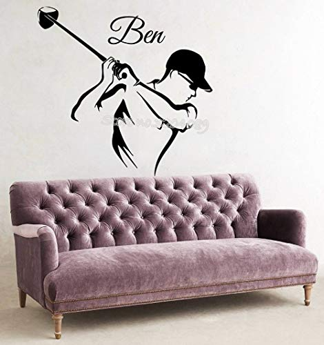 Tianpengyuanshuai golfer muursticker aangepaste naam sport sticker vinyl kinderkamer woonkamer afneembare sticker behang