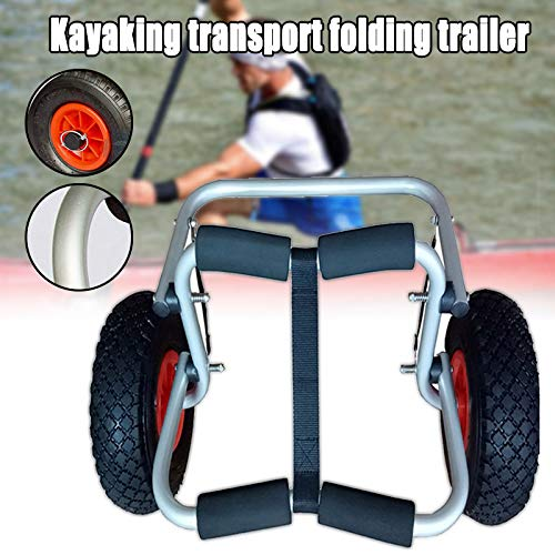 Xzan Kayak Canoe Boat Carrier Dolly Trailer Tote Trolley Transport Cart Wheel Portable Folding Trailer