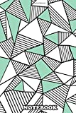 Notebook: Abstract Lines Colour Block Mint , Journal for Writing, College Ruled Size 6' x 9', 110 Pages