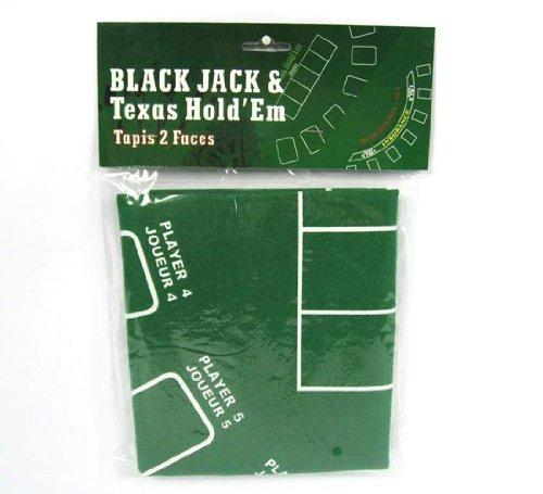 Couvrir BlackJack et table de poker table de drap vert couvre avec élastique 60x90cm