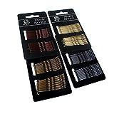 YQ 96 Stück Haarnadel Metall Wellenform Haarklammern Damen Klassische Bobby Pins(50MM,4 Colors)