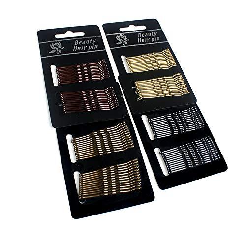 YQ 96 Horquilla Para Niña, Accesorio Parael Cabello Negro Con Mini Horquilla Ondulada (Cuatro Colores)