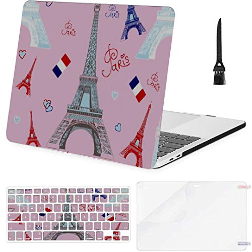 MacBook Pro Case Seamless Vector Pattern Hand Drawing White MacBook Air 11' /A1370/A1465 Plastic Case Keyboard Cover & Screen Protector & Keyboard Cl